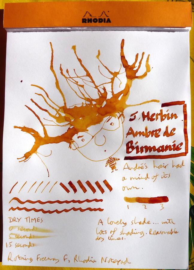 J Herbin Ambre de Bermanie Inkling doodle