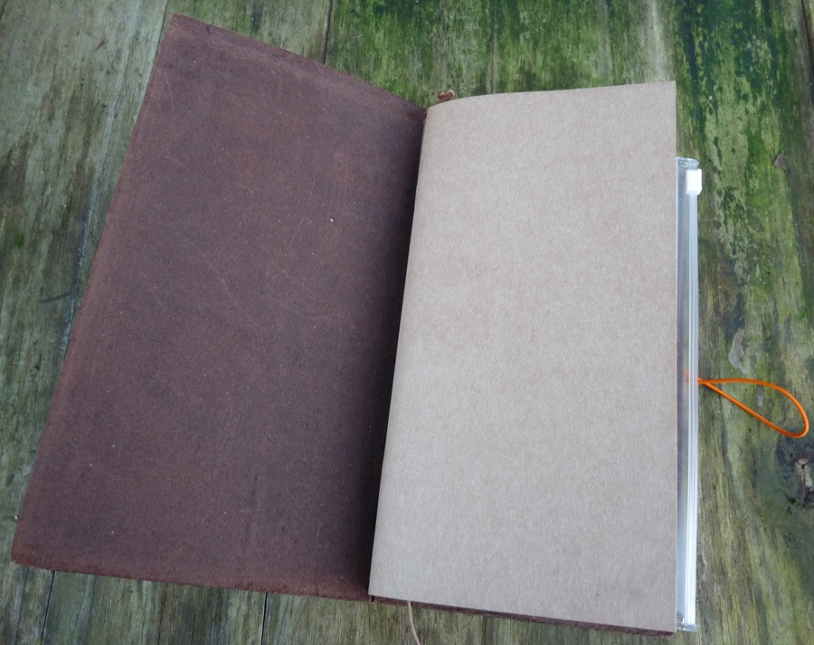 Midori Traveler's notebook inside front cover