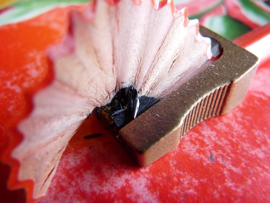Palomino Graphite being sharpened