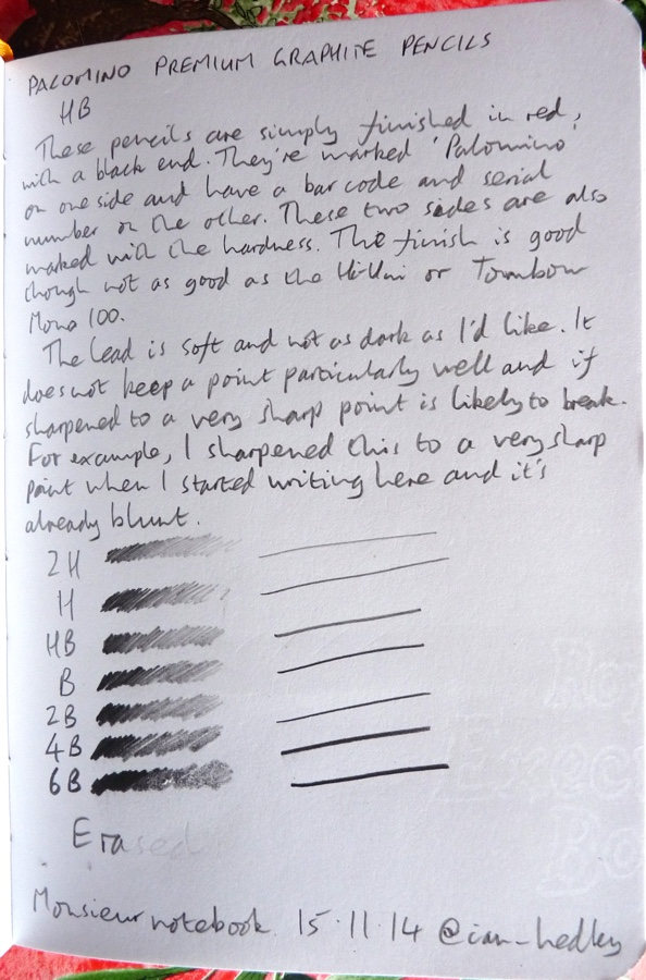 Palomino Graphite handwritten review