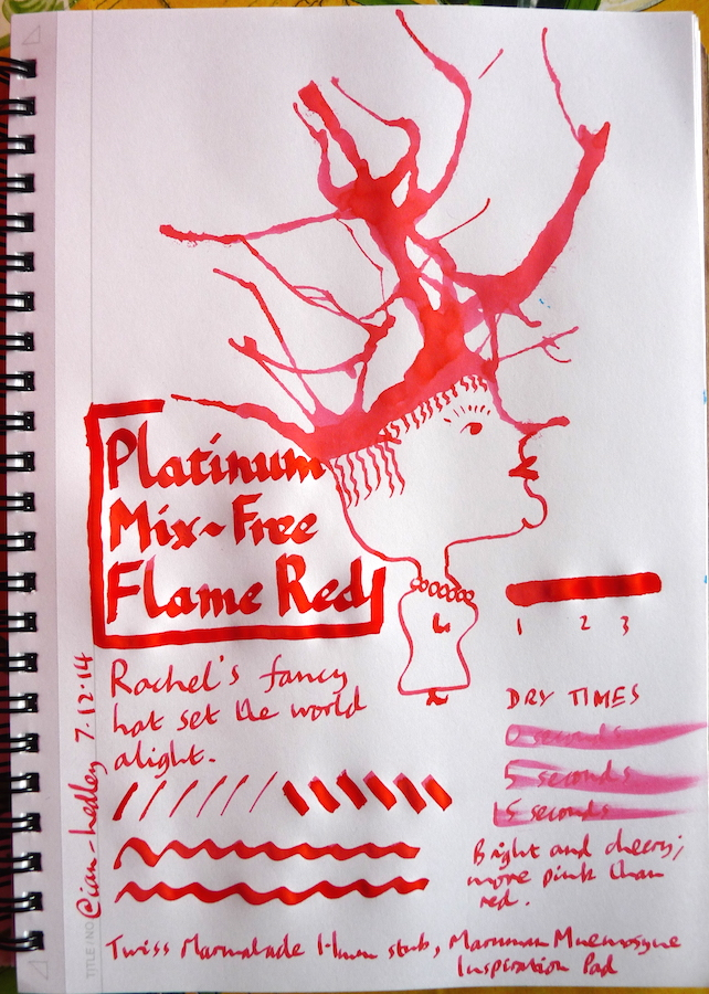 Platinum Mix-Free Flame Red inkling