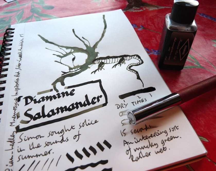 Diamine Salamander ink review