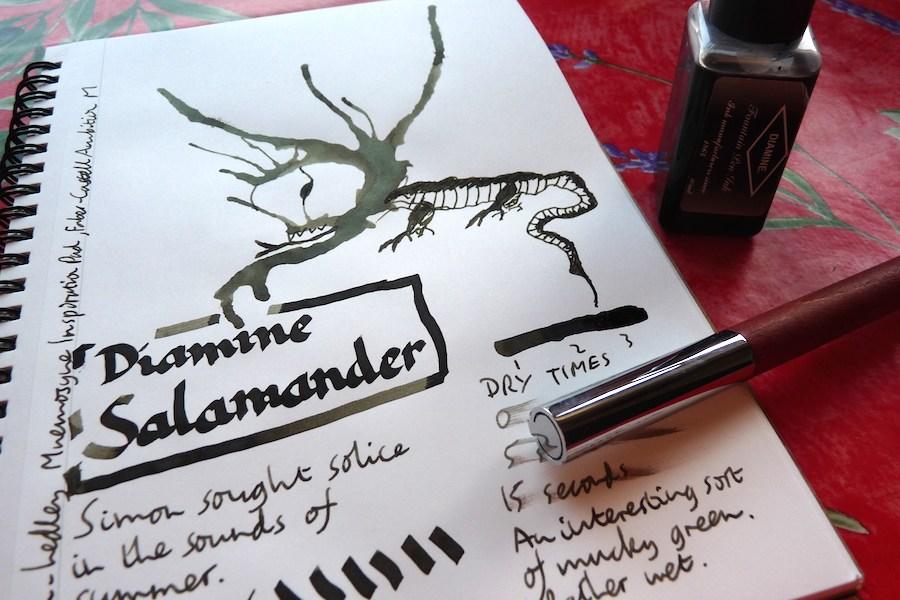 Diamine Salamander ink review