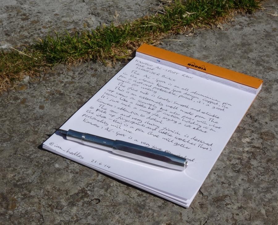 Kaweco AL-Sport fountain pen posted