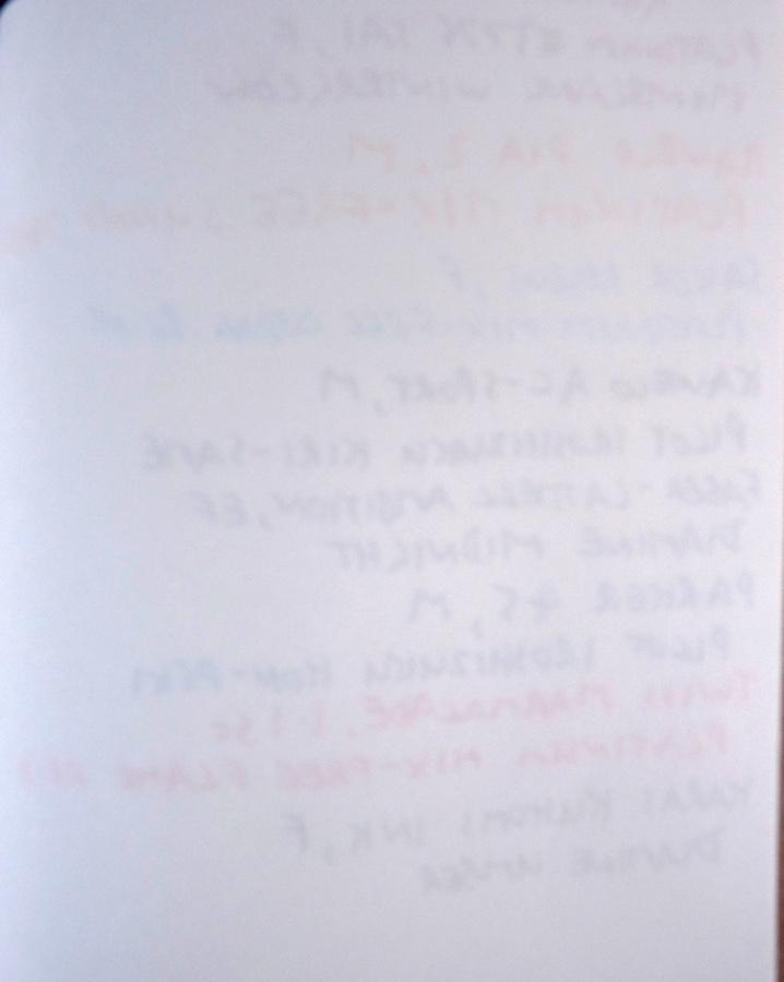 Midori Travelers Notebook Refill 003 plain ink test back