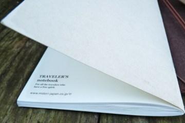 Midori Travelers Notebook Refill 013 lightweight back cover