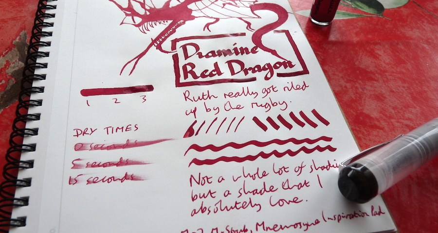 Diamine Red Dragon ink review