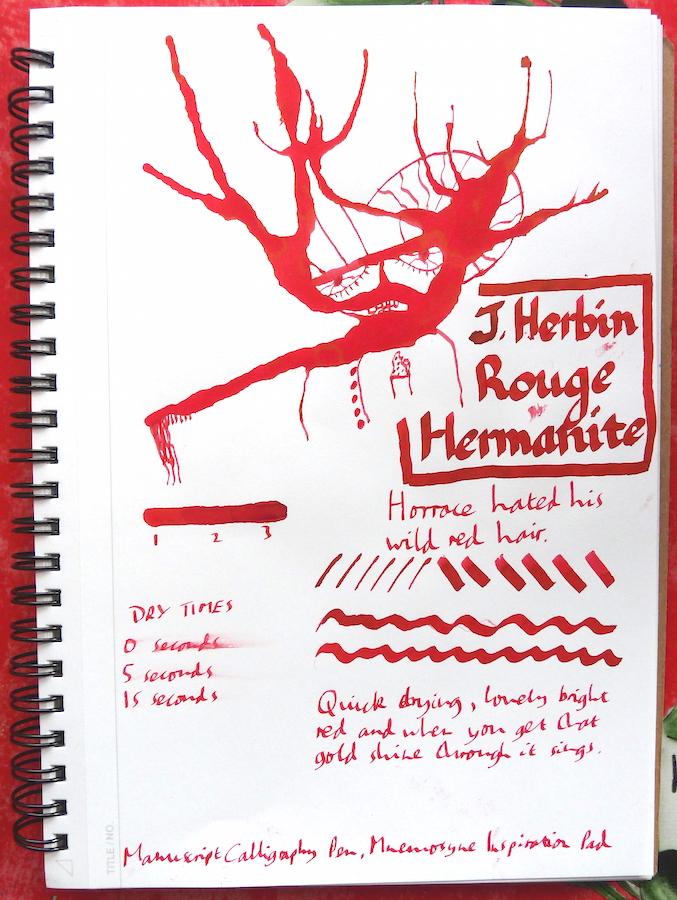 J Herbin Rouge Hematite Inkling doodle