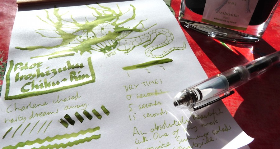 Pilot Iroshizuku Chiku-Rin ink review