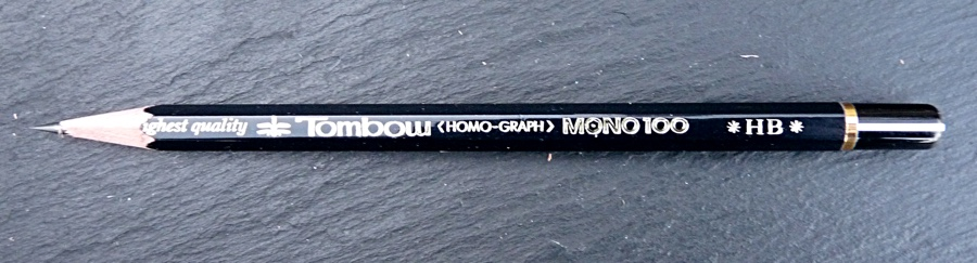 Tombow Mono 100 pencil branding