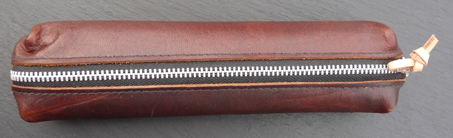 Chocolate Brownie Pencil Case closed from the top