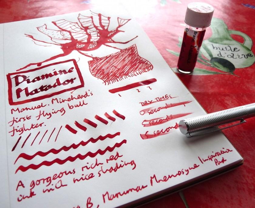 Diamine Matador ink review