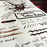 Montblanc Toffee Brown ink revew