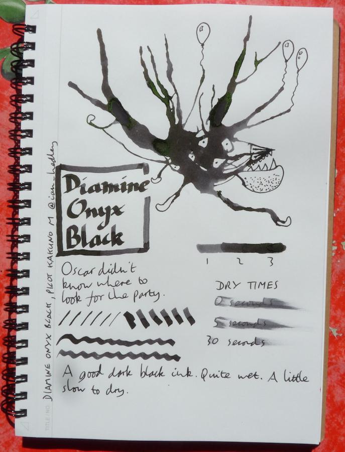 Diamine Onyx Black Inkling doodle