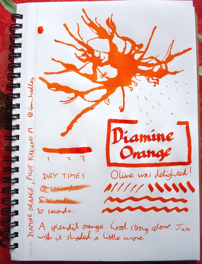 Diamine Orange Inkling
