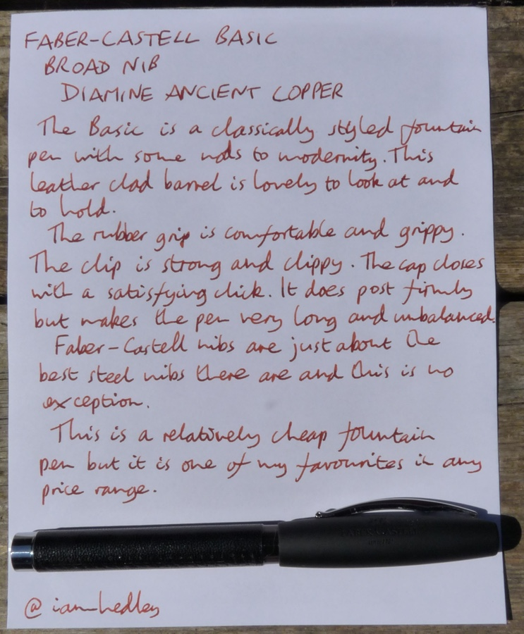 Faber-Castell Basic handwritten review