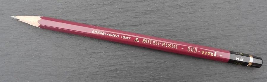Mitsu-Bishi Hi-Uni branding