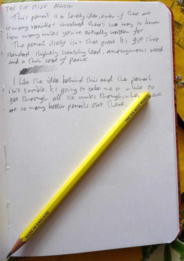 Six Mile Pencil Handwritten review
