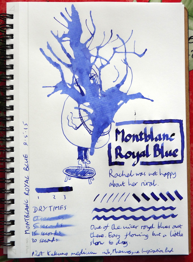 Montblanc Royal Blue Inkling doodle