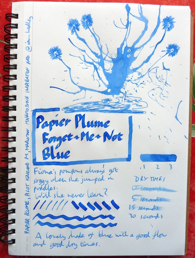 Papier Plume Forget-Me-Not Blue Inkling doodle