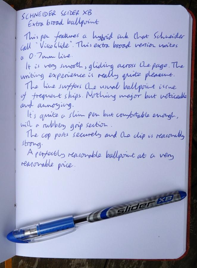 Schneider Slider XB handwritten review