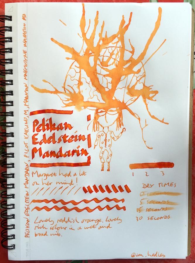 Pelikan Edelstein Mandarin Inkling doodle