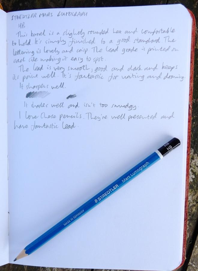 Staedtler Mars Lumograph handwritten review