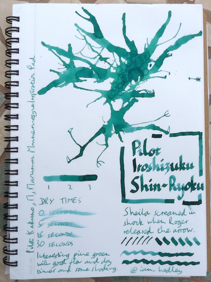 Pilot Iroshizuku Shin-Ryoku Inkling