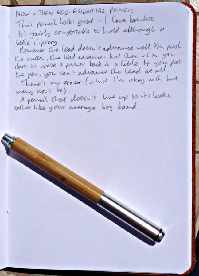 Eco-Essential Pencil handwritten review