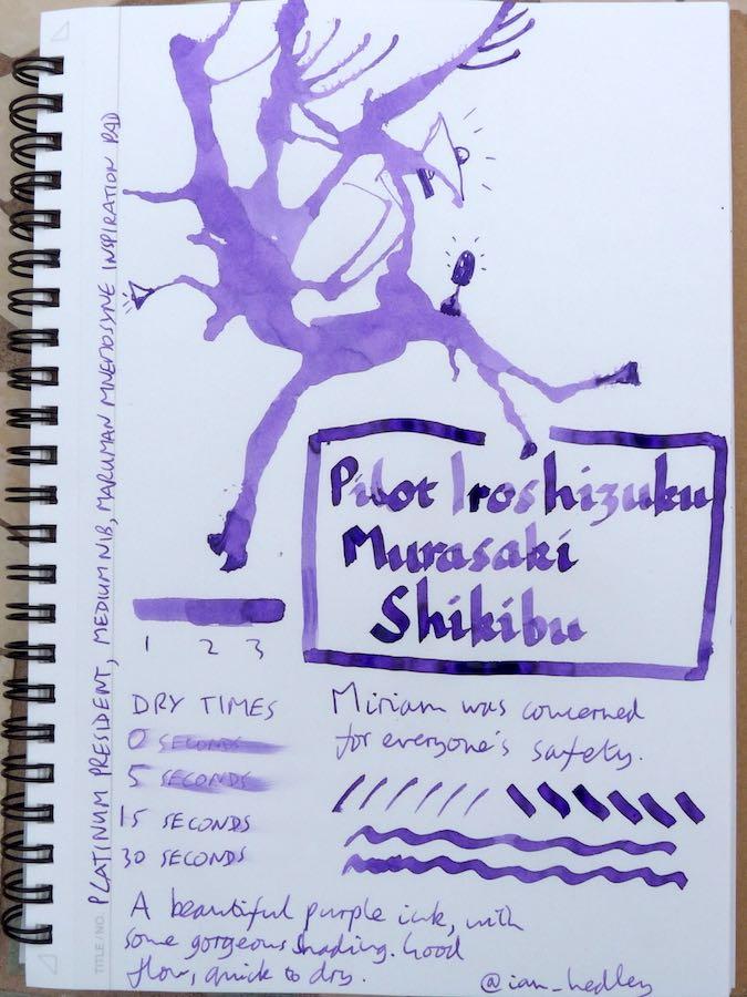 Pilot Iroshizuku Murasaki Shikibu Inkling