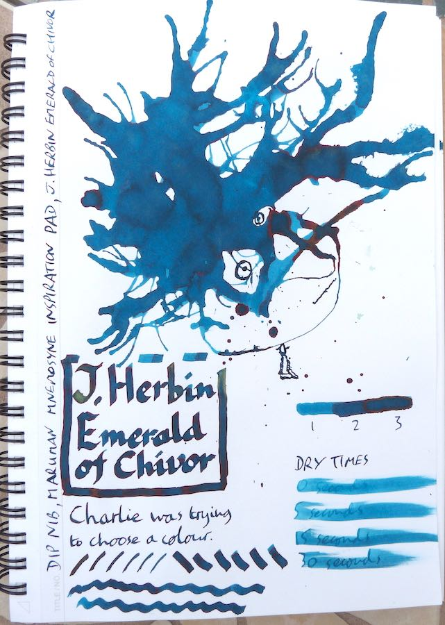 J Herbin Emerald of Chivor Inkling