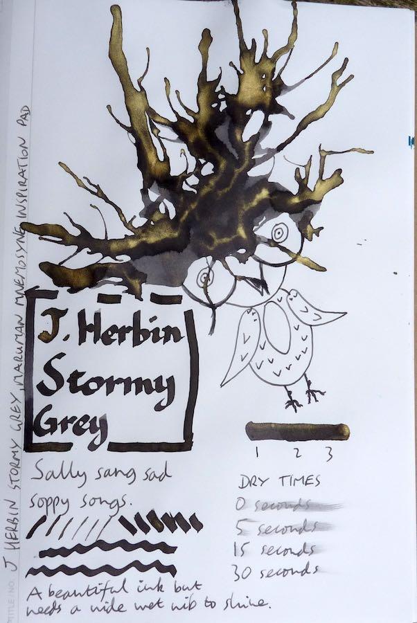 J Herbin Stormy Grey Inkling