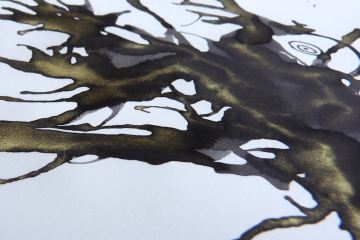 J Herbin Stormy Grey gold closeup