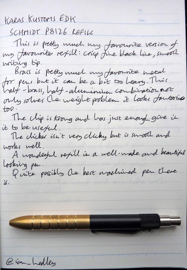 Karas Kustoms EDK handwritten review