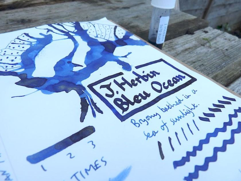 J Herbin 1670 Bleu Ocean ink review