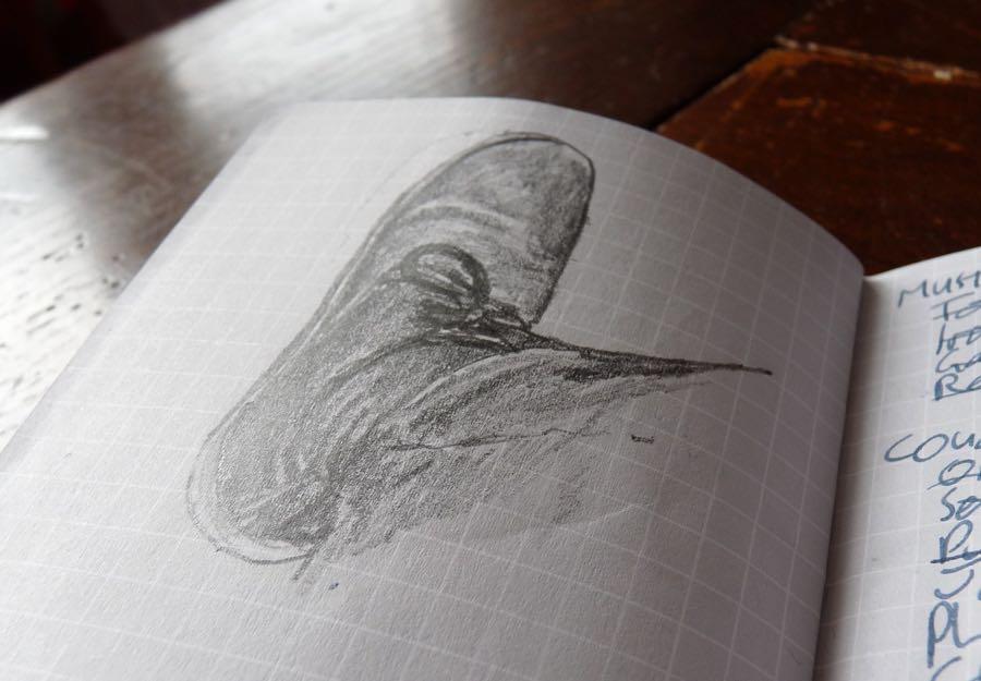 Whitelines Pocket notebook sketch