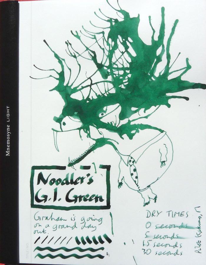 Noodlers GI Green Inkling