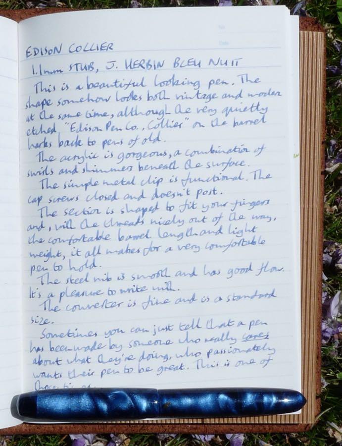 Edison Collier handwritten review