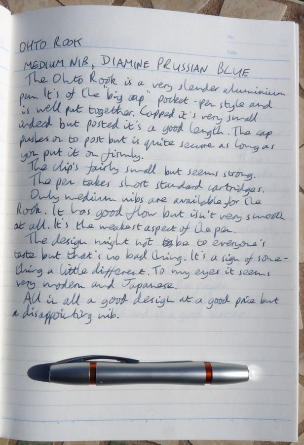 OHTO Rook handwritten review