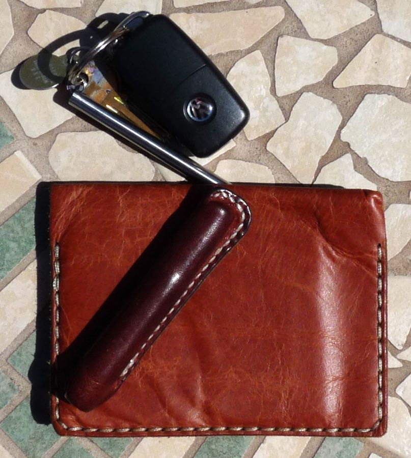 Galen wallet notebook top view closed