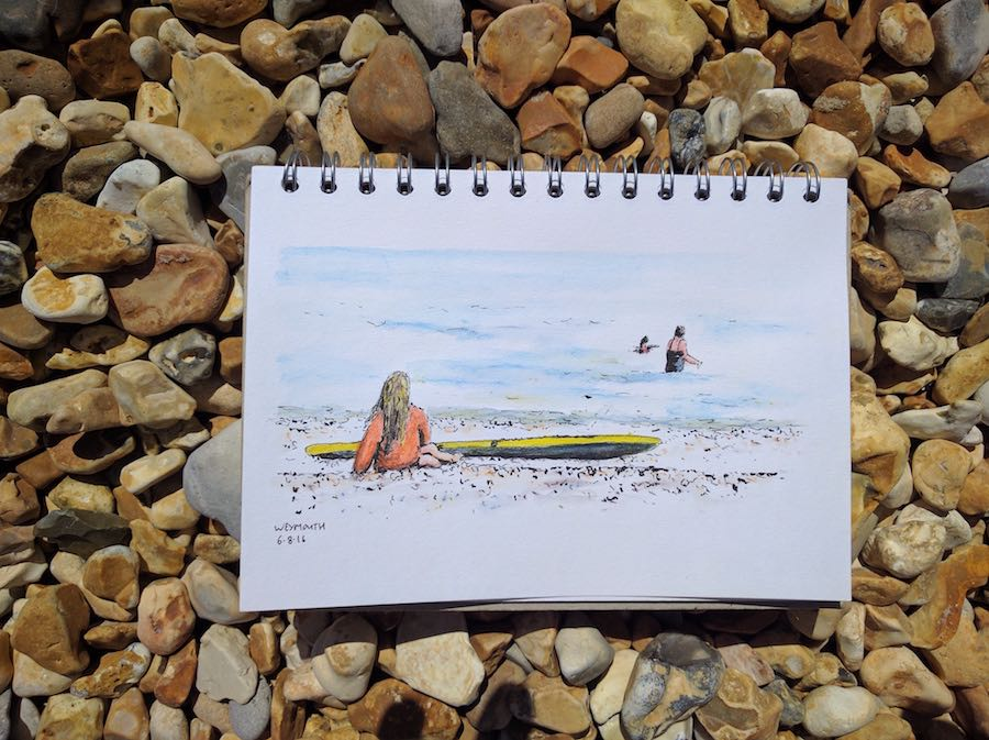 Quick sketch at the beach 2