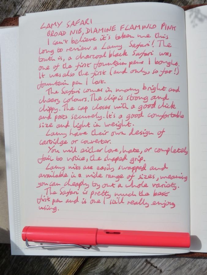 Lamy Safari handwritten review