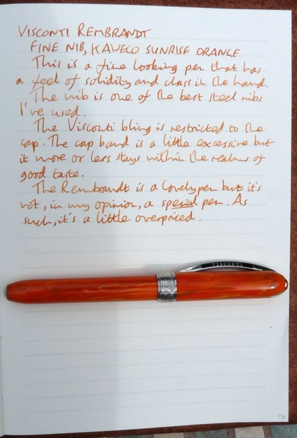 Visconti Rembrandt handwritten review