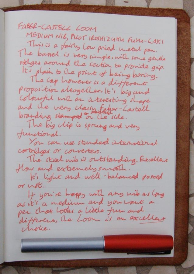 Faber-Castell Loom handwritten review