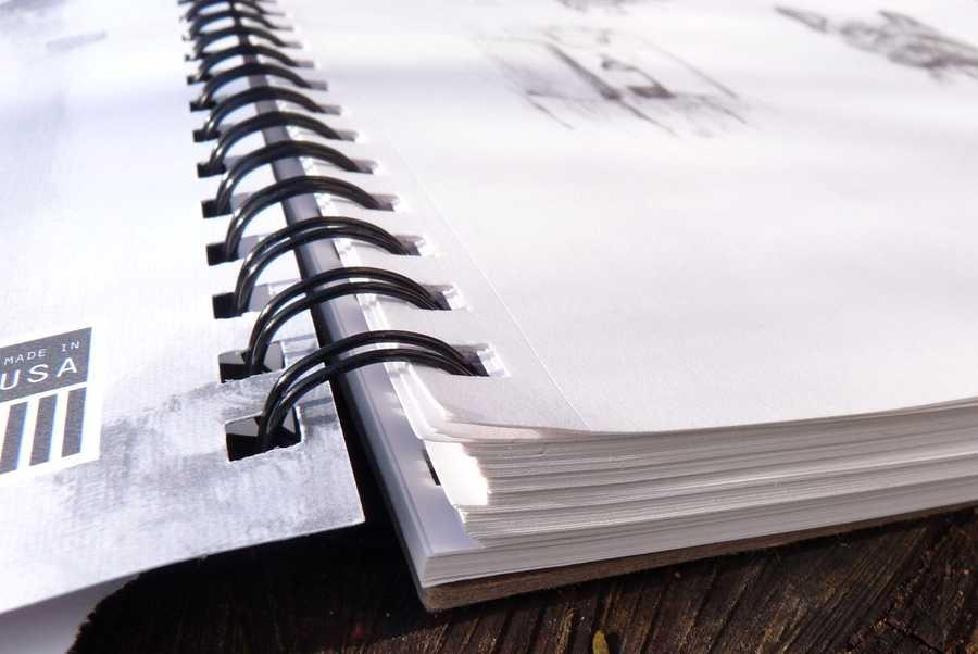 Denik Sketchbook binding