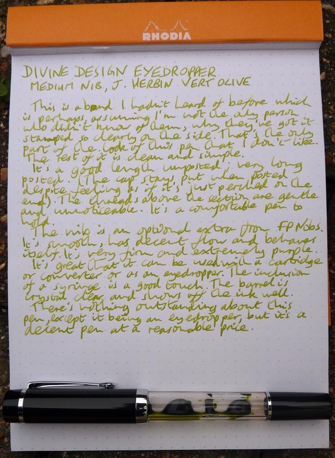 Divine Design Eyedropper handwritten review