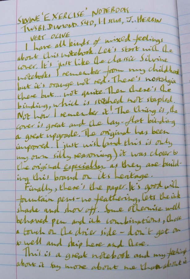 Silvine Exercise handwritten review