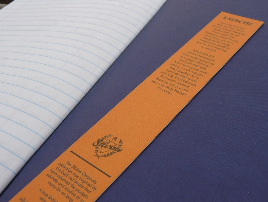 Silvine Exercise bookmark