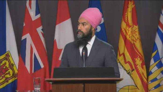 Click to play video 'Singh says NDP doesn't want 'witch hunt' with WE Charity investigation'