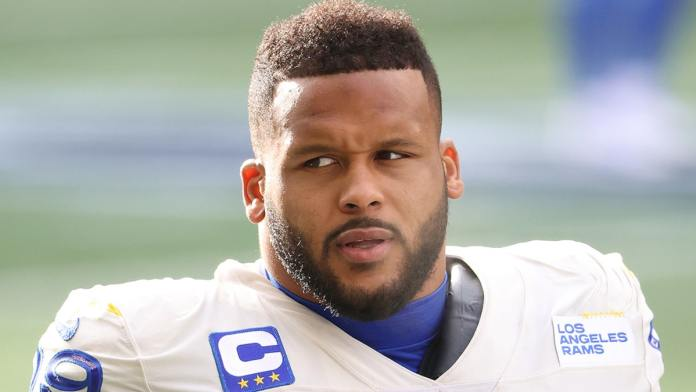NFL Superstar Aaron Donald Accused of Assault, Allegedly Bashed Man's Face